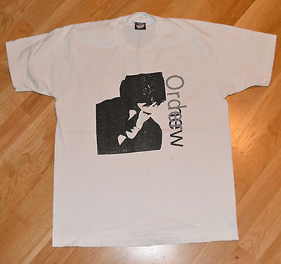 RaRe *1980's NEW ORDER* vtg rock concert tour t-shirt (L) New-Wave Joy Division