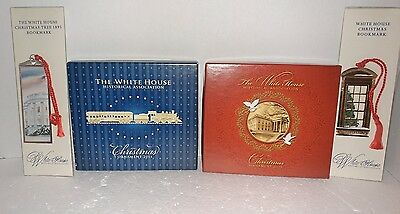 White House Christmas Ornament Lot 2013 2014  and Bookmarks