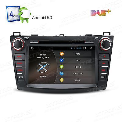 """8"""" Android 6.0 Car DVD GPS Player Stereo BT Radio WiFi&3G For Mazda 3(2010-2013)"""