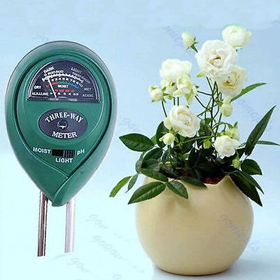 Plant Flowers 3 in1 Soil PH Tester Moisture Light Meter hydroponics Analyzer
