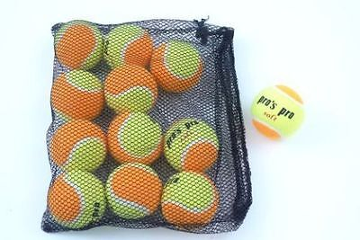 *NEU*12xPro's Pro Soft Tennisbälle Methodik XL 12 Bälle Junior Kinder Orange Kid