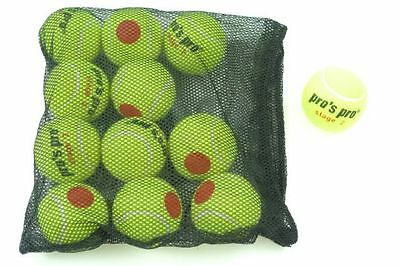 *NEU*Pro's Pro Stage 2 Tennisbälle Methodik XL 12 Bälle Junior Kids Kinder