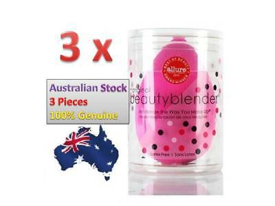 3 x The Original BeautyBlender Makeup Applicator Beauty Blender sponge -OZ Stock