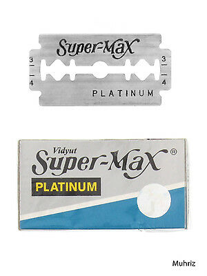 10pcs Platinum Razor Blades Double Edge Safety Shaving Stainless Steel Supermax