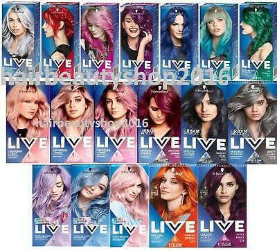 Schwarzkopf LIVE XXL Hair Color Semi-Permanent Hair Dye Ultra Bright or Pastel