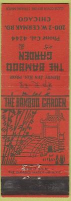 Matchbook Cover   Bamboo Garden Chicago IL Chinese Restaurant