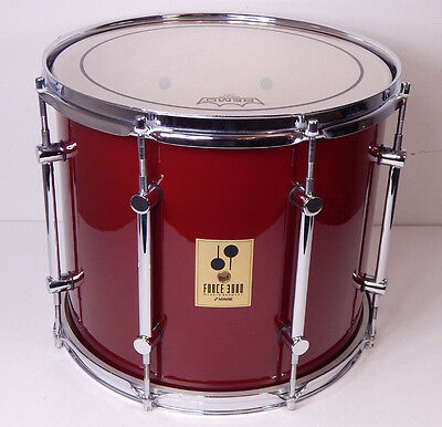 "Sonor Force 3000 14"" x 12""  Tom FFT-314 No Mount Red Crimson **NEUWERTIG**"