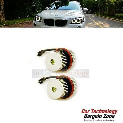 25W Cree Xml Canbus Error Free Led Angel Eyes Marker Kit White Xenon Headlights