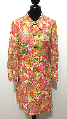 CULT VINTAGE '70 Abito Vestito Donna Cotone Flower Cotton Woman Dress Sz.S - 42