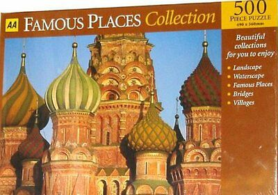 AA 500 Piece Red Square Moscow jigsaw Puzzle, New