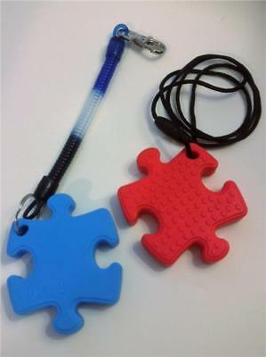 Sensory Chew Necklace or Tether Jigsaw Piece Autism SEN ADHD Biting Aid Fidget