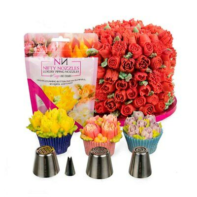 Nifty Nozzles - Anniversary Bundle - 4 Nozzles - Genuine Russian Flower Tips