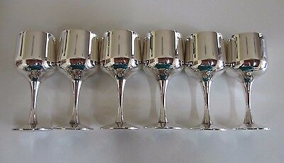 Set of Six Vintage Silver Plated Sherry Goblets - Strachan Productions