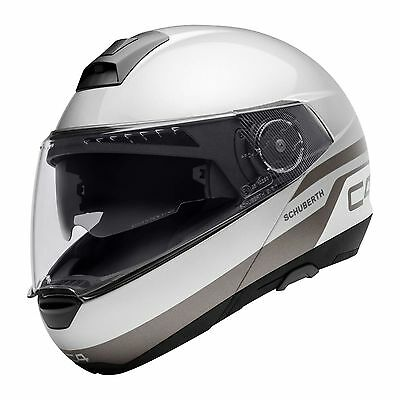 Schuberth C4 Pulse Silver Helmet - ALL SIZES - C-4 - Fast & Free Shipping!