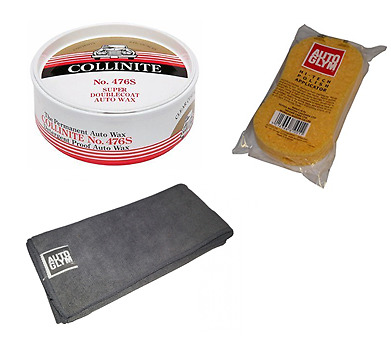 Collinite No. 476S Super Double Coat Wax 9oz + Autoglym Applicator & Microfibre