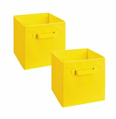 ClosetMaid 18711 Cubeicals Fabric Drawer Yellow 2 Pack