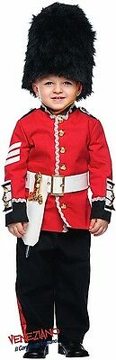 Italian Made Boys Deluxe English Busby Guard Fancy Dress Costume Outfit 0-10yrs