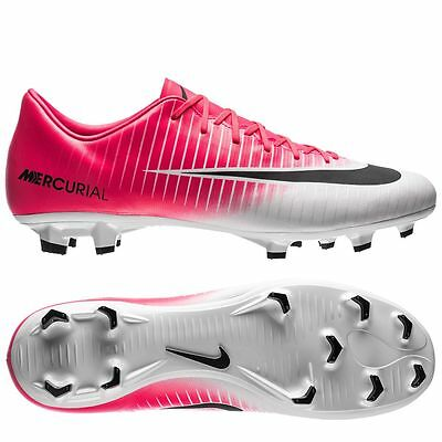 Nike Mercurial Victory VI FG 2017 Soccer Shoes Brand New White   Pink    Black d3dff79f48f2a