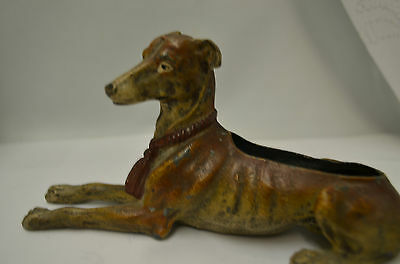 Antique Vienna Bronze Cold Painted Whippet Pen Wipe 19th Century