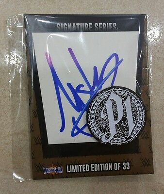 WWE Store Exclusive WrestleMania 33 Limited Edition of 140 AJ Styles SIGNED Pin