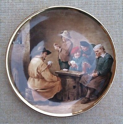 "10"" Lord Nelson Pottery Plate  - ""a Game Of Cards""."