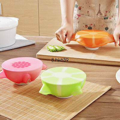 Lovely Fruit Silicone Suction Lids Silicone Cover Cooking Pot Lid Kitchen Tools