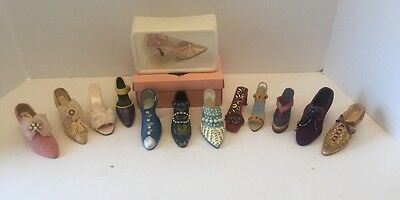 Collectible 13 Miniature Shoes- Just The Right Shoe & Putting On The Ritz