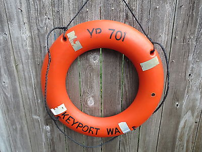 30 Inch Authentic Used Life Preserver Ring Saver Float Buoy Bouy (#87)
