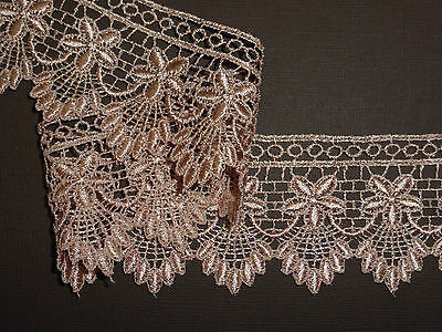 "*The Place For Lace* Pretty Rose Gold Venise Guipure Lace Trim 2.25""/6cm"