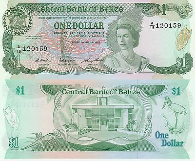 Belize 1 Dollar Banknote 1.1.1987 Uncirculated Condition Cat#46-C-0159