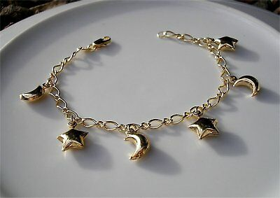 GENUINE STAMPED 9ct Gold charm bracelet gf 30 CHARMS SILLY PRICE REF17