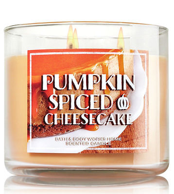 1 Bath Body Works PUMPKIN SPICED CHEESECAKE Large Scented 3-Wick Candle 14.5 oz
