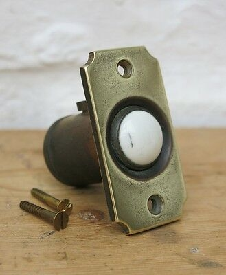 Vintage BRASS & PORCELAIN Door Bell Push (READY TO FIT)