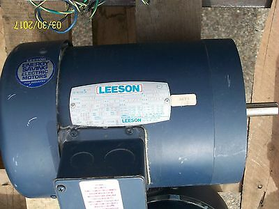 Leeson Electric Motor 1 Hp 208/230V 3 Phase 1725 Rpm , C6T17Fc2B