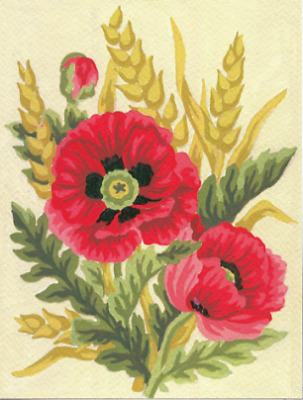 Collection dArt Poppies and Wheat Tapestry Kit