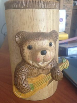 Carved Robert Raikes Gibson Bear Wood Stein