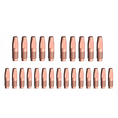 MIG Contact Tips - 1.0mm FRONIUS Style- 25 pack - M6 x 6 x 1.0mm-AL2300 - AW2500