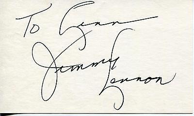 Jimmy Lennon Boxing / Wrestling Ring Announcer Signed Card Autograph
