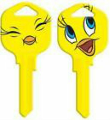TWEETY BIRD House Key Blank LOONEY TUNES KWIKSET KW1 SMILE EYE