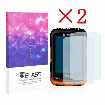 9H Hardness Tempered Glass Screen Protector For Bryton Rider 530(2 Packs)