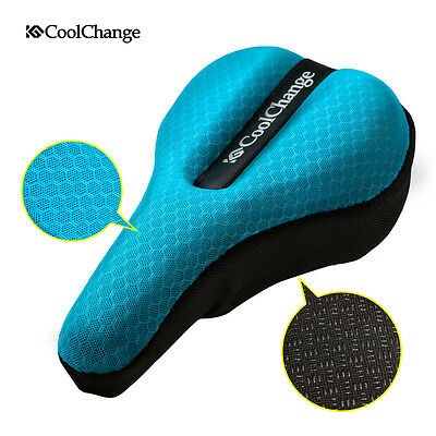 CoolChange Bike Bicycle Seat Saddle Cover Extra Comfort 3D Cushion Soft Padding
