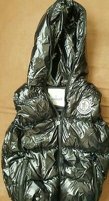 Moncler down cool vest black, kids size xl ( 8-10 years old) Used a little.
