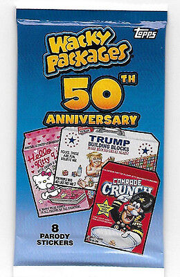 2017 Topps Wacky Packages 50Th Guaranteed Silver Parallel #ed/50 Hot Pack!