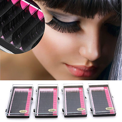 Mink Black Lashes Tray Lash Extension Pro Curl B C D J Set Individual Eyelash