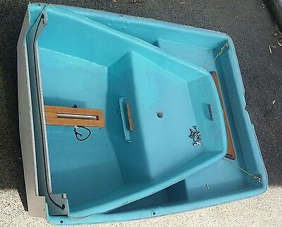 Sailing Fibreglass  Dinghy - Nesting for Deck Stoage