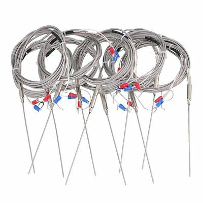10 Sets 2m Steel 1.5x100mm Probe K Type Sensor High Temperature Thermocouple