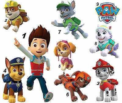"PAW PATROL wall stickers (9 images in 2 sizes) ""DISCOUNTS AVAILABLE"""