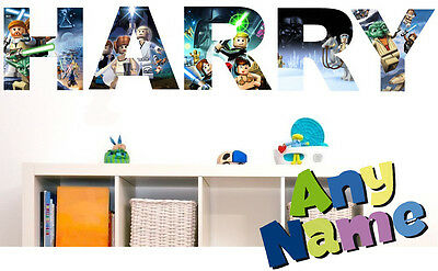 LEGO STAR WARS letter name wall stickers (3 sizes available & PRE-CUT)