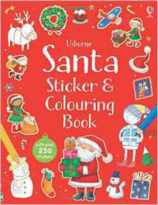 Santa Sticker and Colouring Book (Colouring & Sitcker Book) (Usborne Sticker and