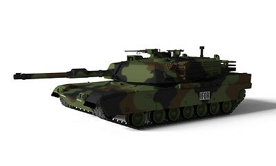RC Tank Waltersons 1/72 US MBT M1A1 Abrams Tank Nato Camouflage - RC Addict